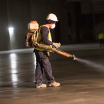 Roc Cure concrete curing agent for industrial concrete floors