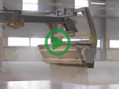 Dry-Shake Concrete Floor Surface Hardener Application