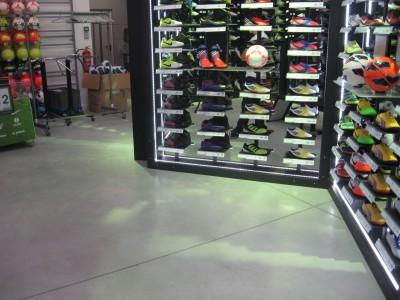 Concrete dry shake, concrete floor surface hardener for retail floors