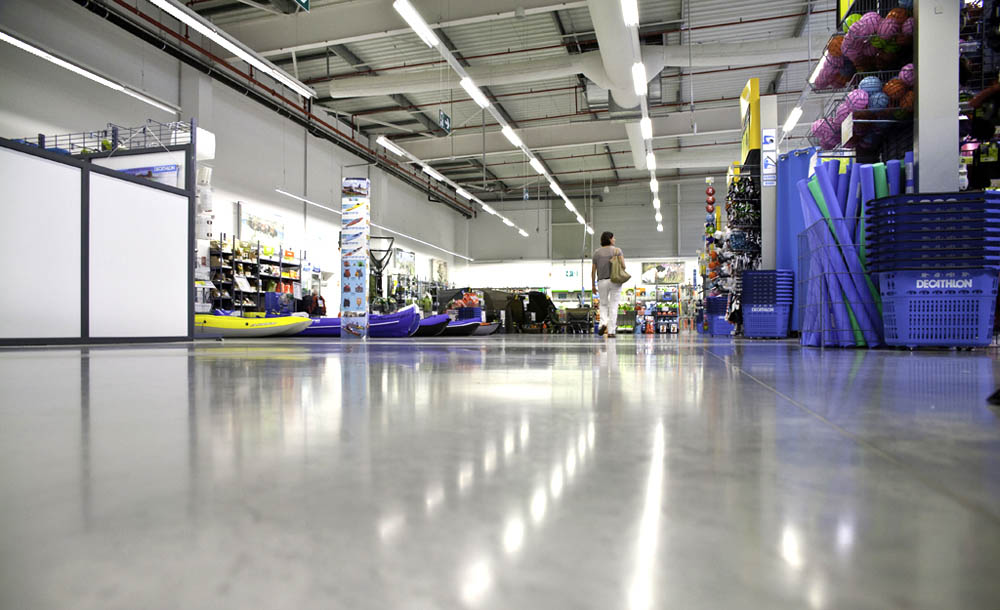 Retail outlet, featuring Rocland Qualitop HP surface hardener