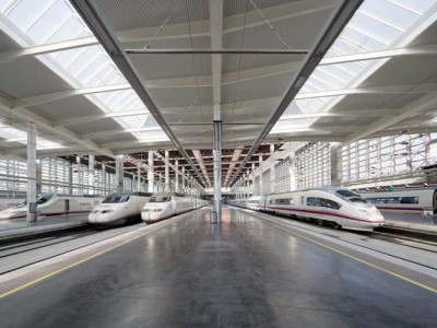 Atocha Train Station, Madrid, Spain - Rocland Qualitop Millennium surface hardener. Concrete dry-shake.