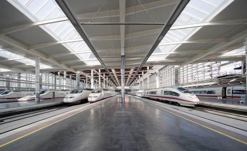 Atocha Train Station, Madrid, Spain - Rocland Qualitop Millennium surface hardener. Concrete dry-shake.